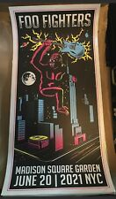 Foo Fighters Madison Square Garden MSG NYC 2021 Poster