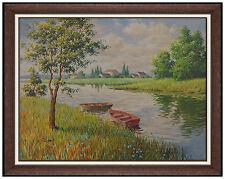 Arthur Sarnoff Oil Painting On Canvas Landscape Pin Up Illustration Original Art