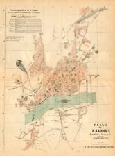 ZAMORA. Plano antiguo de la cuidad. Antique town/city plan. MARTIN c1911 map