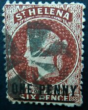 St Helena 1864 1d Type A  perf 12½  SG 6 Used Cat £29