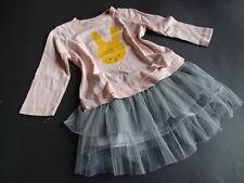 PINKO + ZARA Wunderschöner grauer Rock mit Tüll + 2 LG Shirts Set Kombi Gr.80/86