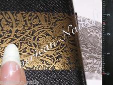Rouleau Foils Nail Art Foil ongles Dentelle Or 150 cm x 2,5 cm