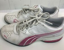 aa1bce3814b2 Puma Tazon 5 NM Women Shoes size 9.5 White pink leather Sneakers Tennis