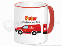 Personalised Gift Post Mail Van Mug Delivery Truck Driver Postman Present #1