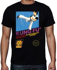 Kung Fu 80's Old School Arcade Game Fighting Karate MMA Retro Mens Black T Shirt