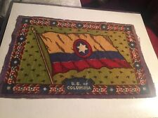 "U S Columbia 1910  Era Felt Flag From cigar Box ( 5.5"" X 8.5"")"