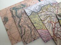 Vintage Map style envelopes, flag bunting confetti ideal travel wedding theme