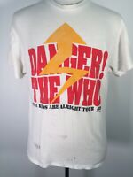 The Who Kids Are Alright Tour Concert T Shirt 1989 Danger 70s Hard Rock USA XL