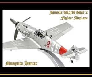WWII German Messerschmitt Bf109G-6 Red 8 Airplane Corgi AA27107 1/72 Beautiful