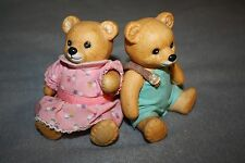 HomeCo Vintage Ceramic Boy Girl Bear Set Arms and Legs Move