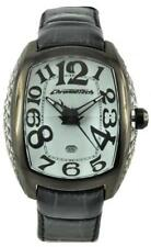 Mens Watch CHRONOTECH CRYSTAL CT.7998M/09 Leather Black White Prisma