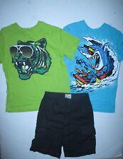 Tcp The Children's Place Tiger Shark Summer Tee Shirts Shorts Set Boys S 5 6 Euc