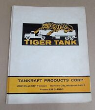 Vintage 1960's Tiger Tank Tankraft Kansas City MO empty 3 hole folder FREE S/H