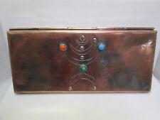 Yaad Israel 1960's Copper Box, Menorah Modernist Jeweled