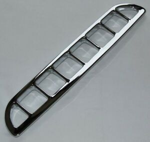 MG new Chrome Air Intake Vent Grille + fasteners MG MGB MGBGT 1963-1980