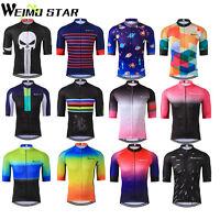 Men's Cycling Jersey Tour De France Pro Short Sleeve Bike Jacket Clothing Tops
