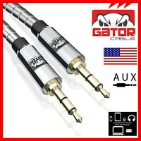 All Full Metal Chrome AUX 3.5mm Male to Male Cable Cord Car HD Stereo Audio 4FT