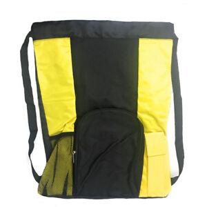 "Large Big Drawstring Backpack Sack Rucksack Pack Bag Heavy Duty 14x19"""