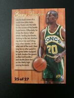 1995-96 Fleer Flair NBA Hardwood Leader Card #25 Gary Payton Seattle Supersonics