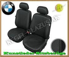 Kunstleder Sitzbezüge BMW 3er E46, BMW 3er E90 - Schwarz - für Vordersitze