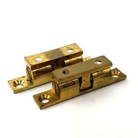 4 Brass Cupboard Drawer Cabinet Double Ball Catch Door Latch Touch Beads NOS RV