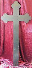 Grosses Hölzernes Grabkreuz 133 x 61 cm ! Deutschland wohl 1920er / 1930er Jahre