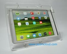 iPad 2/3/4 VESA Security Acrylic Enclosure w Stand for POS, Kiosk, Square Reader