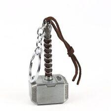 Marvel Avengers Thor Thor's Hammer Metal Keyring Keychain Silver Key Chain Punk