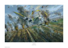 """Simon W. Atack, STAMPA FIRMATA """"Spada Strike"""" Spitfire, WW2, Spada Beach"""