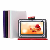 """NEW Universal 7 Inch Folio Smart Case Cover Skin Stand for 7"""" Tablet PC Phablet"""