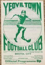 Yeovil Town v Bristol City Friendly Programme 29 Apr 1975 the only 1 on ebay