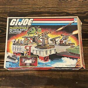 1985 Hasbro GI Joe Tactical Battle Platform Play Set near complete w/ Box