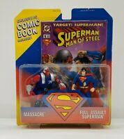 DC Superman Full Assault Massacre Action Figure includes Comic Book