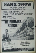 Hank Snow 1951 Ad- The Rhumba Boogie RCA Victor WSM Grand Ole Opry/full steam