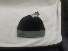Kast Extreme Fishing Gear Chunk Knit Beanie Hat  Black and Gray