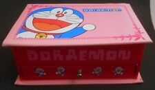 Japanese Anime Doraemon Small Trinket Jewelry Box with Mirror Inside Euc Drawer