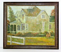 Old House in Country Scene 20 x 24 Oil Painting on Canvas w/ Custom Frame