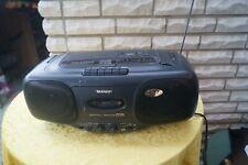 Sharp QT-CD44 Stereo Radio CD Player Cassette Recorder