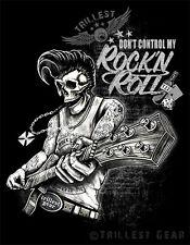 Rock N Roll T-Shirt Oldschool Bedruckt Vintage Rockabilly Skull Hot Rod NEU G