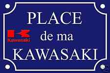 Réplique PLAQUE de RUE MOTO KAWASAKI en ALU 20x30 cm