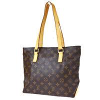 Auth LOUIS VUITTON Cabas Piano Shoulder Bag Monogram Leather BN M51148 35MG929