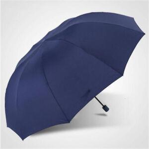 """60"""" Super Big Fold Anti-UV Business Umbrella Men Women Rain Windproof Umbrella"""