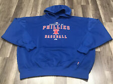 MAJESTIC THERMA BASE MLB PHILADELPHIA PHILLIES BASEBALL HOODIE SWEATSHIRT SZ 2XL