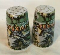 * Vintage Souvenir Salt & Pepper Shakers THRIFOO TEXAS STATE Souvenir