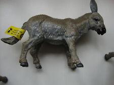 "8 x pcs DONKEY'S 3"" x 4"" FARM ANIMAL set of EIGHT plastic DONKEYS model toy *NEW"