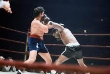 Old Boxing Photo Floyd Patterson Lands A Punch Against Oscar Bonavena