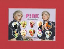 Pink Matted Picture Guitar Pick Set Just Give Me A Reason What About Us