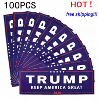 100PCS Donald Trump For President 2020 Bumper Sticker Keep Make America Great RF