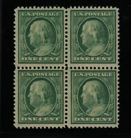 1908 Sc 331 block of 4 MNH  FVF Scott NH CV $81