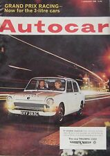 Autocar magazine 7/1/1966 featuring NSU Typ 110 road test, Hillman Super Minx